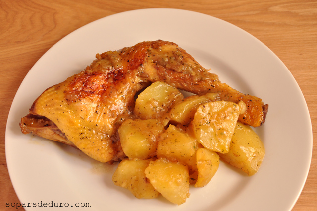 Pollastre amb patates. Sopars de duro.