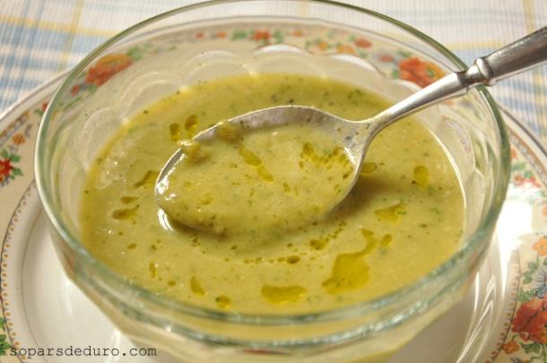 Crema verda de verdura
