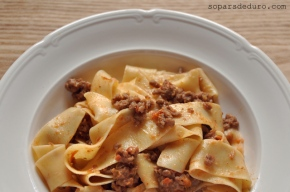 Pappardelle amb ragú